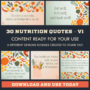 DFY Healthy Eating Quotes – Twitter – 30 Pack