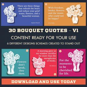 DFY Bouquet Quotes – Instagram – 30 Pack