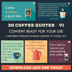 DFY Coffee Quotes – Instagram – 30 Pack