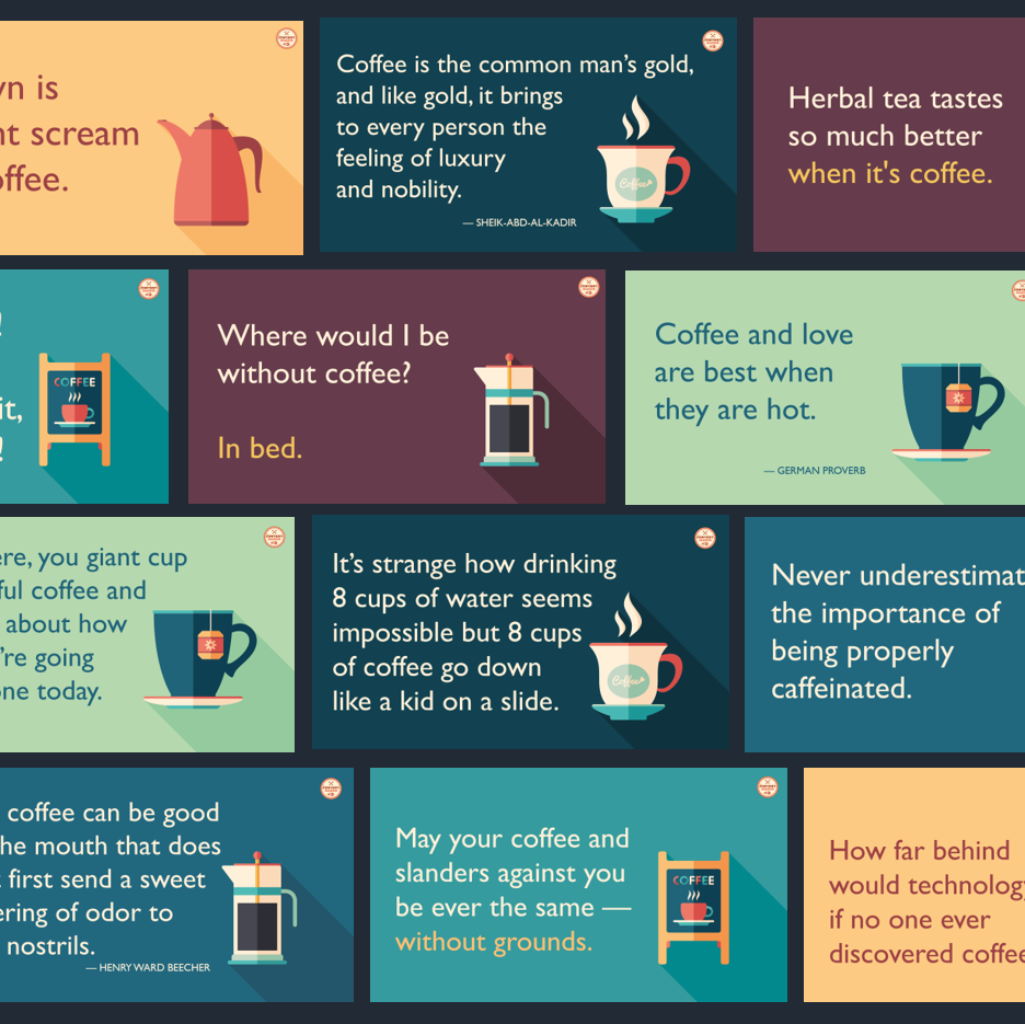 dfy coffee quotes twitter pack the content mason