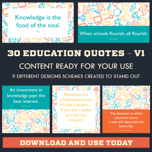 DFY Education Quotes – Twitter – 30 Pack