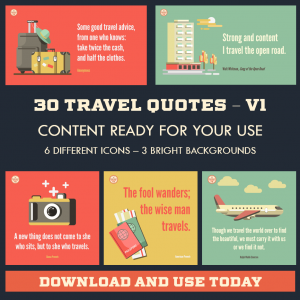 DFY Travel Quotes – Twitter – 30 Pack